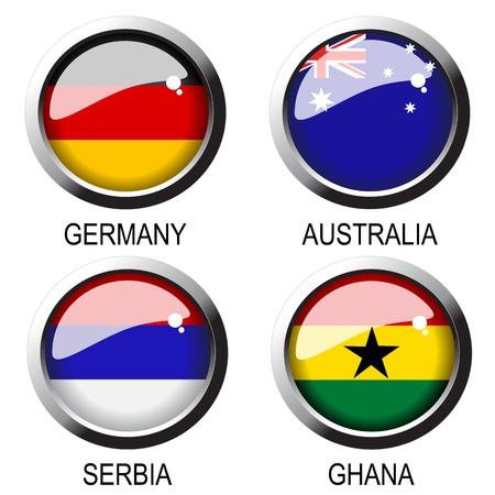 ghana: Drapeaux vectorielle Illustration