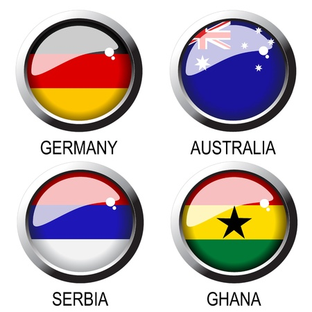 germany flag: Vector flags Illustration