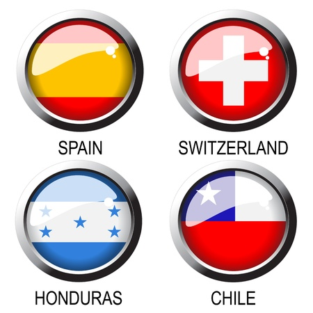 bandera de chile: Banderas vectoriales (Grupo H) - Sudáfrica Vectores