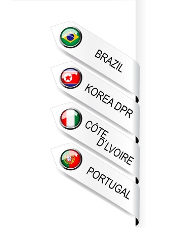 Vector navigation template with flags Vector