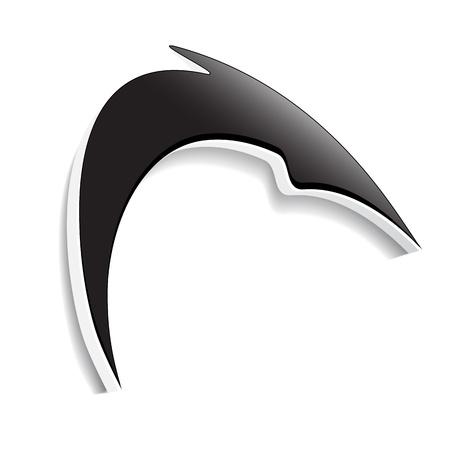 smooth shadow: Vector arrow