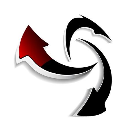 move arrow icon: Vector arrows Illustration