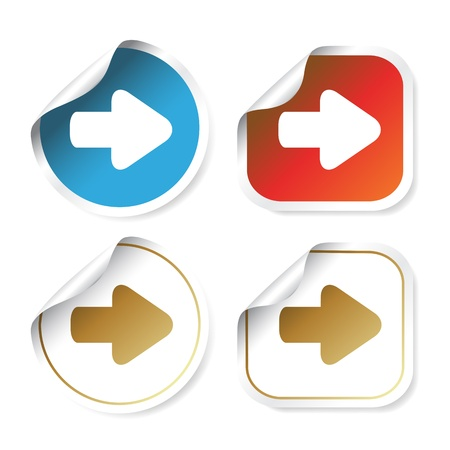 Vector stickers with arrow Vector