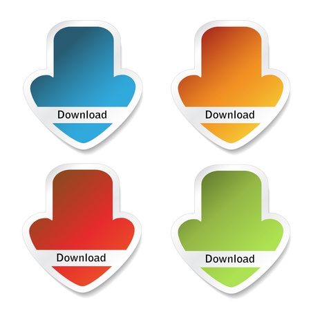 Vector download stickers Vector