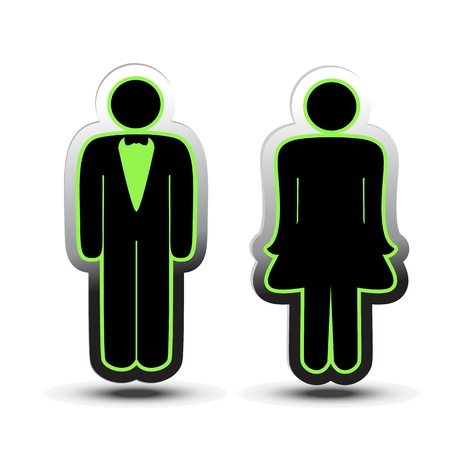 male symbol: Vector toilet symbols Illustration