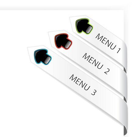 Vector navigation arrows Vector