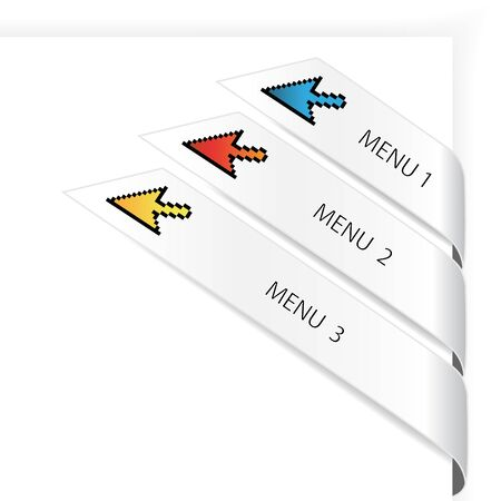 Vector navigation arrows Vector