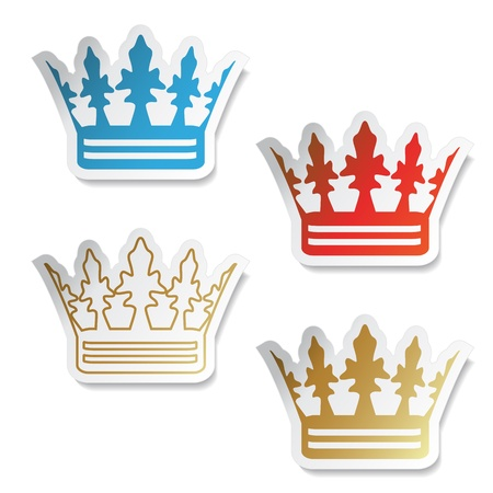 Vector crown stickers Vector