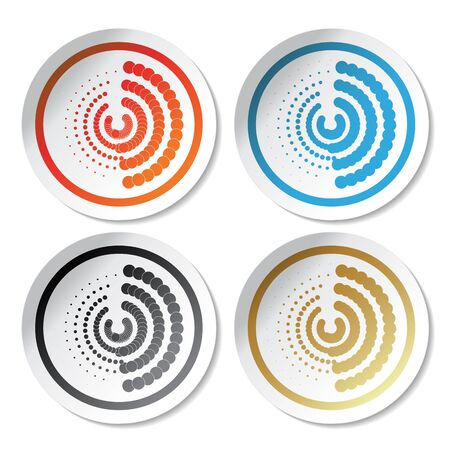 Vector circular stickers Stock Vector - 11470311