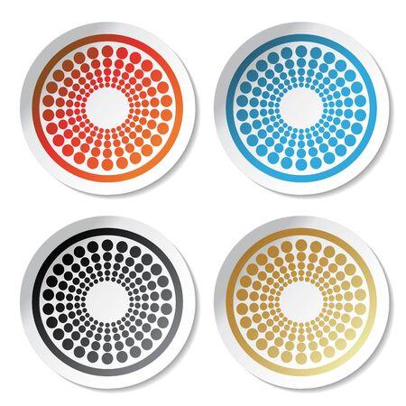 Vector circular stickers Stock Vector - 11470306