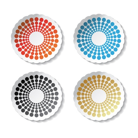 Vector circular stickers Stock Vector - 11470354