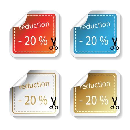 Vector shopping stickers Vector
