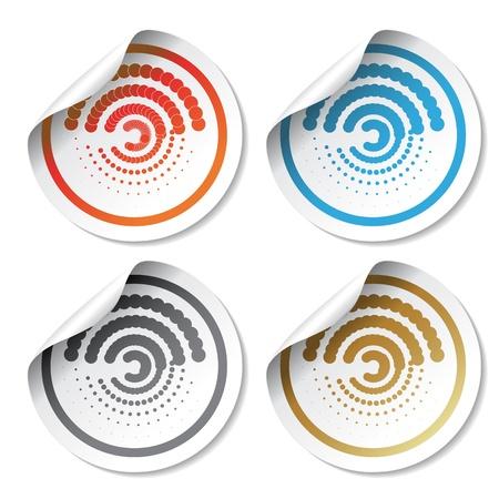 Vector circular stickers Stock Vector - 11470308