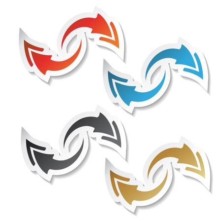 Vector arrow stickers Stock Vector - 11470341