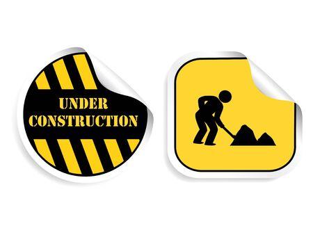 Vector stickers - Under construction Stock Vector - 11490516