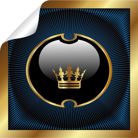crown of light: Vector royal label