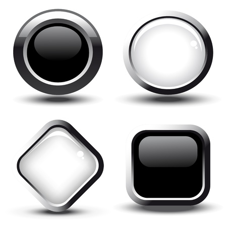 shiny buttons: Vector web buttons