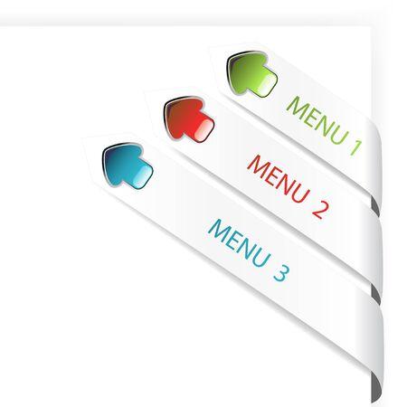 in flexed: Vector navigation arrows