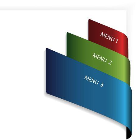 in flexed: Vector menu navigation