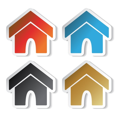 Vector home stickers Vector