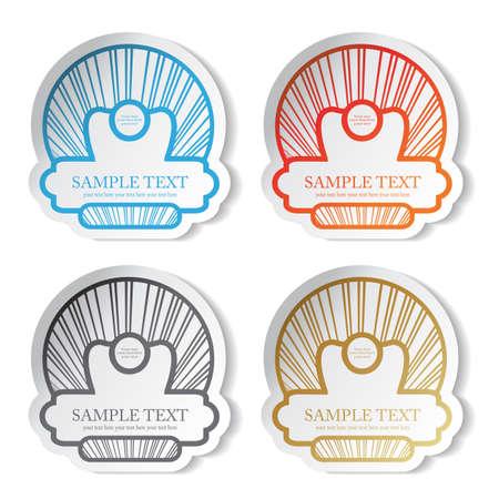 Vector stickers Stock Vector - 11490829
