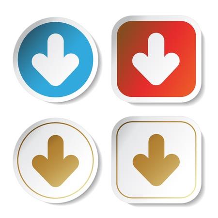 arrowheads: Vector stickers with arrow
