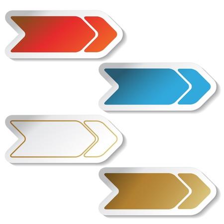 Vector arrow stickers Vector