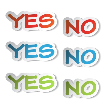 yes no: Vector stickers - yes, no