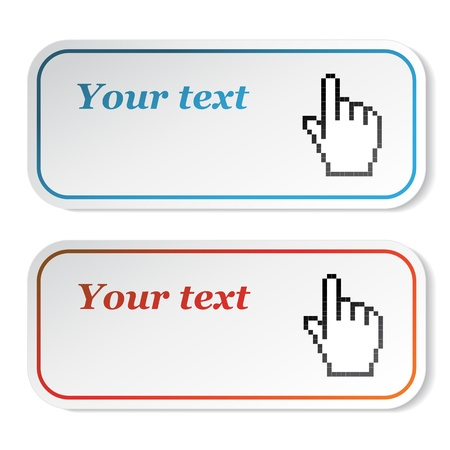 Vector stickers with cursor of hand Vector