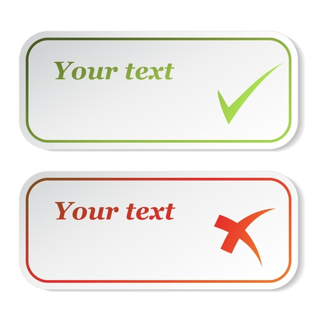 internet mark: Vector check mark stickers Illustration