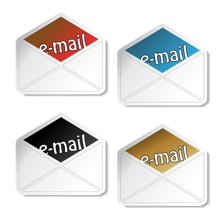 Vector e-mail stickers Vector