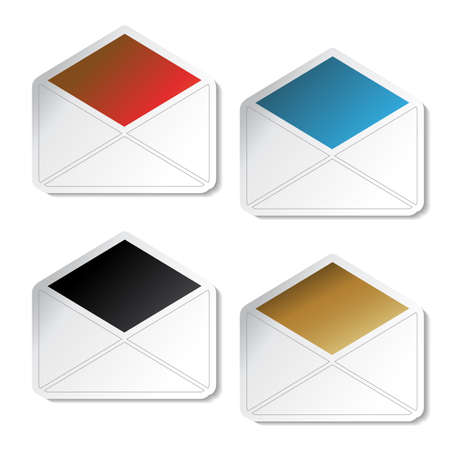 envelope icon: Vector envelope stickers
