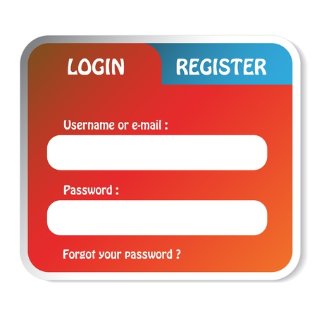 Vector login form Vector