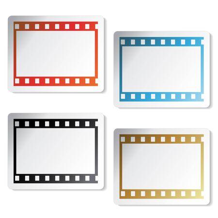 Vector film stickers