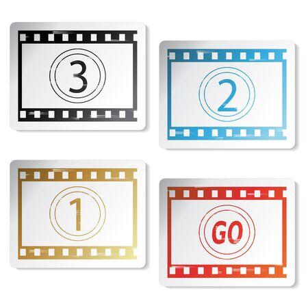 negative spaces: Vector film stickers