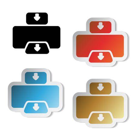 printer icon: Vector printer stickers