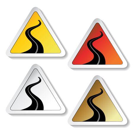 tar paper: Vector road sign