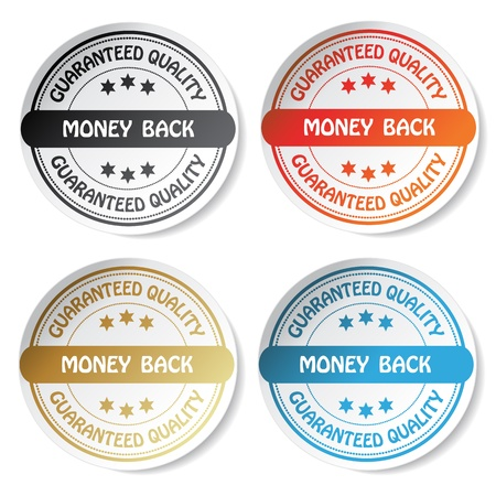 round back: Vector sticker - money back
