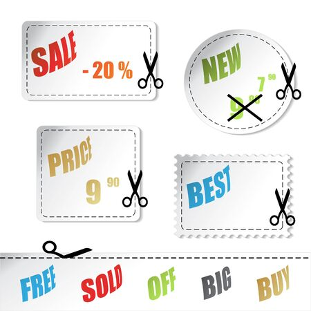 Vector shopping stickers Stock Vector - 11490652