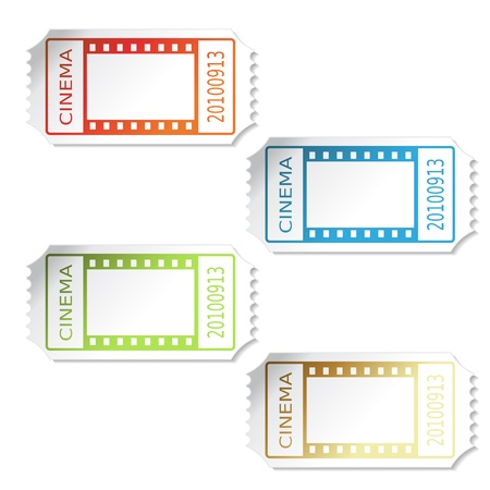cinema ticket: Vector cinema tickets
