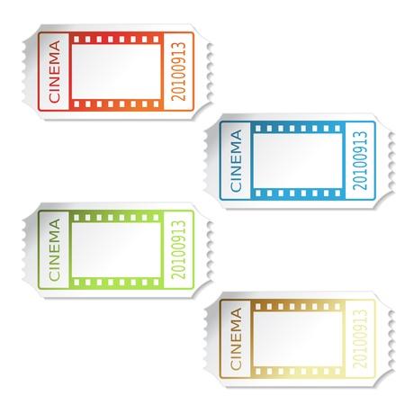 ticket icon: Vector cinema tickets