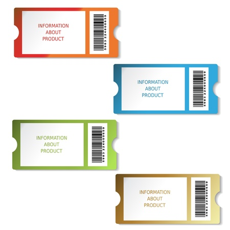 green coupon: Vector tickets