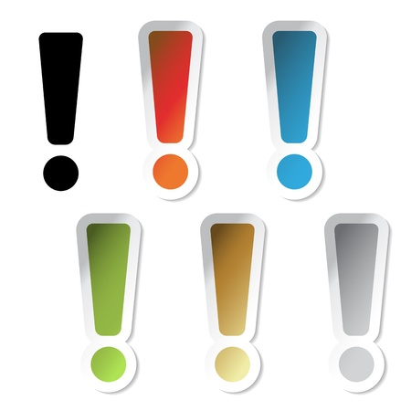 Vector exclamation mark stickers Vector