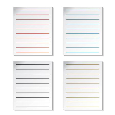 Vector sheets of paper Stock Vector - 11490817