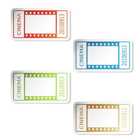 admission: Vector cinema tickets