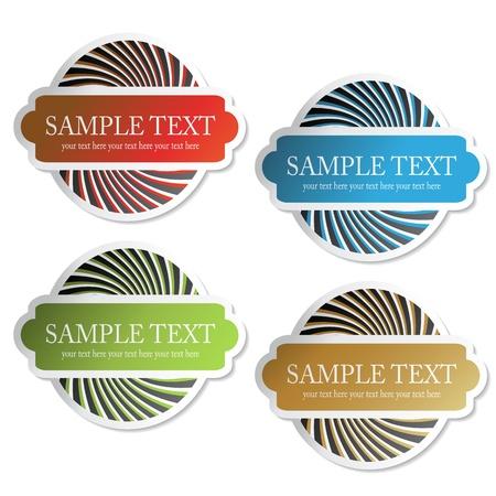 Vector stickers Stock Vector - 11490828