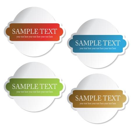 Vector stickers Stock Vector - 11490796