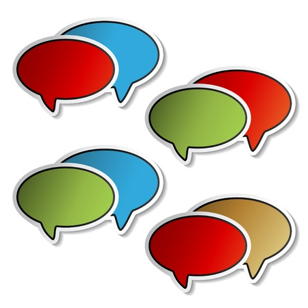 Vector stickers of speech bubbles Vector