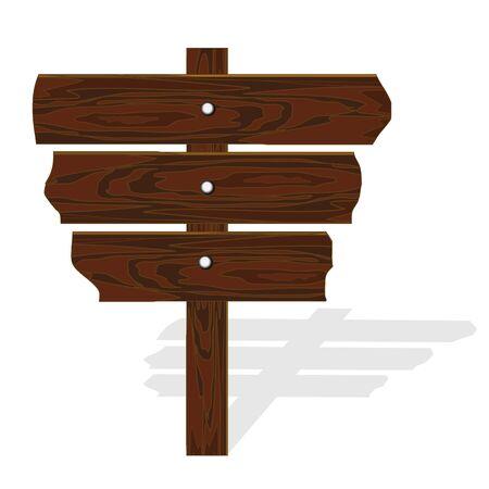 singpost: Vector wooden road-sing Illustration