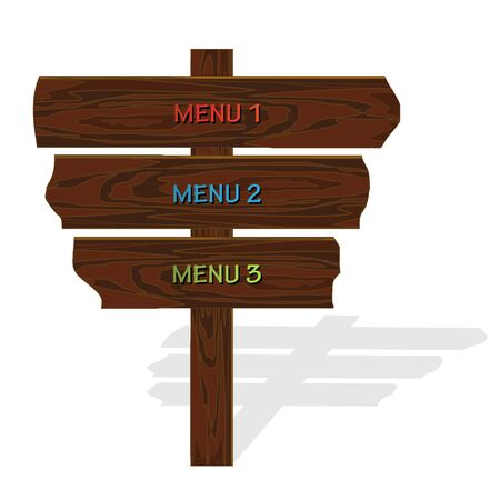 singpost: Vector wooden menu